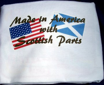 scottish shirt, american shirt, american flag, scottish flag